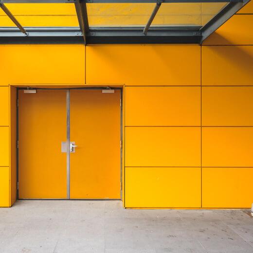 orange fire rated door